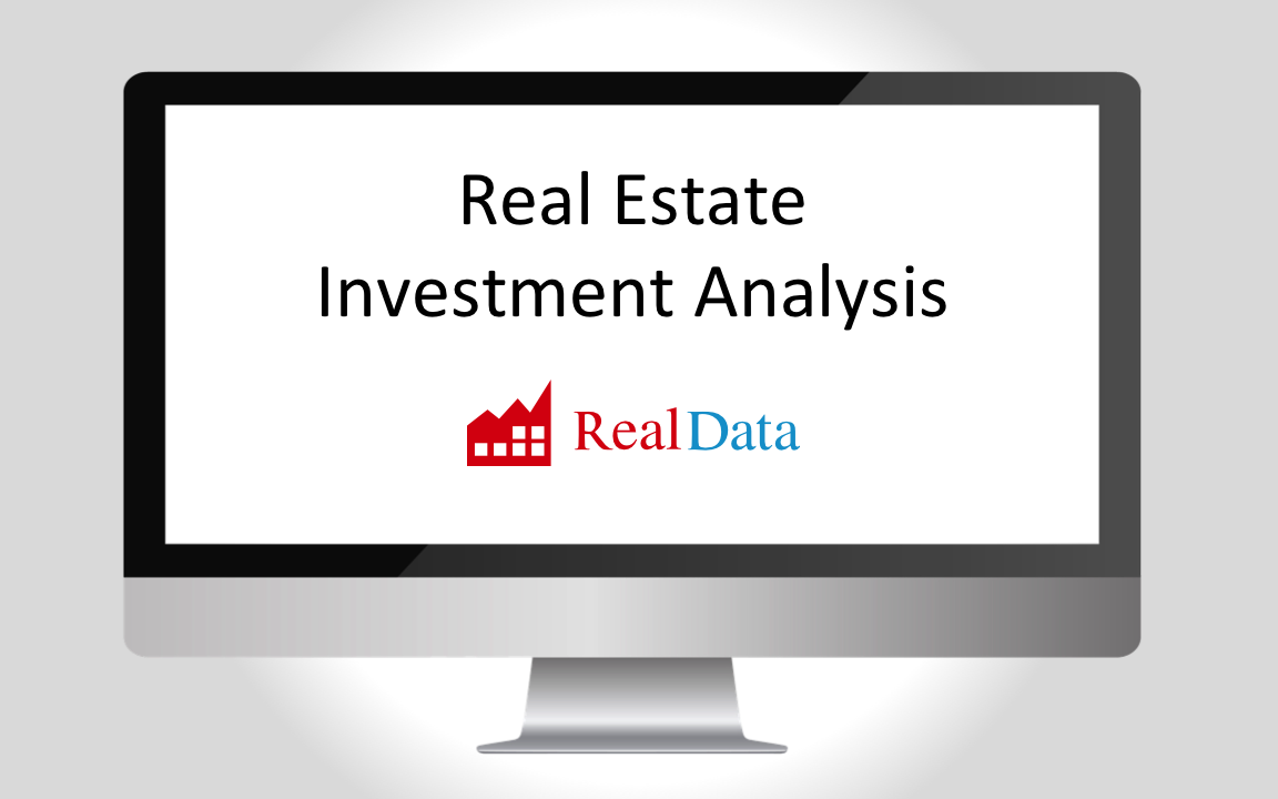 Real Estate Investment Analysis Software from RealData